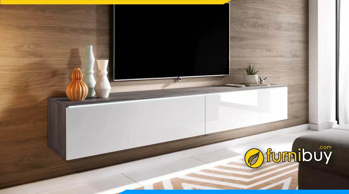 Các mẫu kệ tv treo tường gỗ công nghiệp đẹp nhất năm