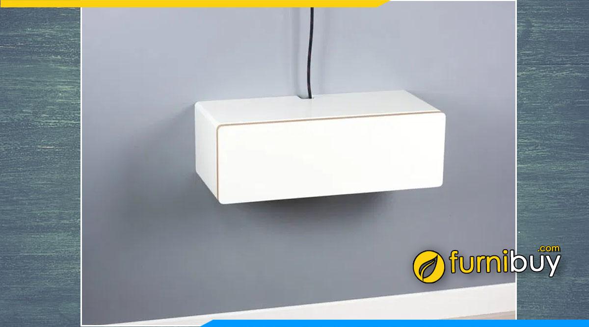 Hình ảnh chiếc tủ tv treo tường màu trắng nhỏ mini