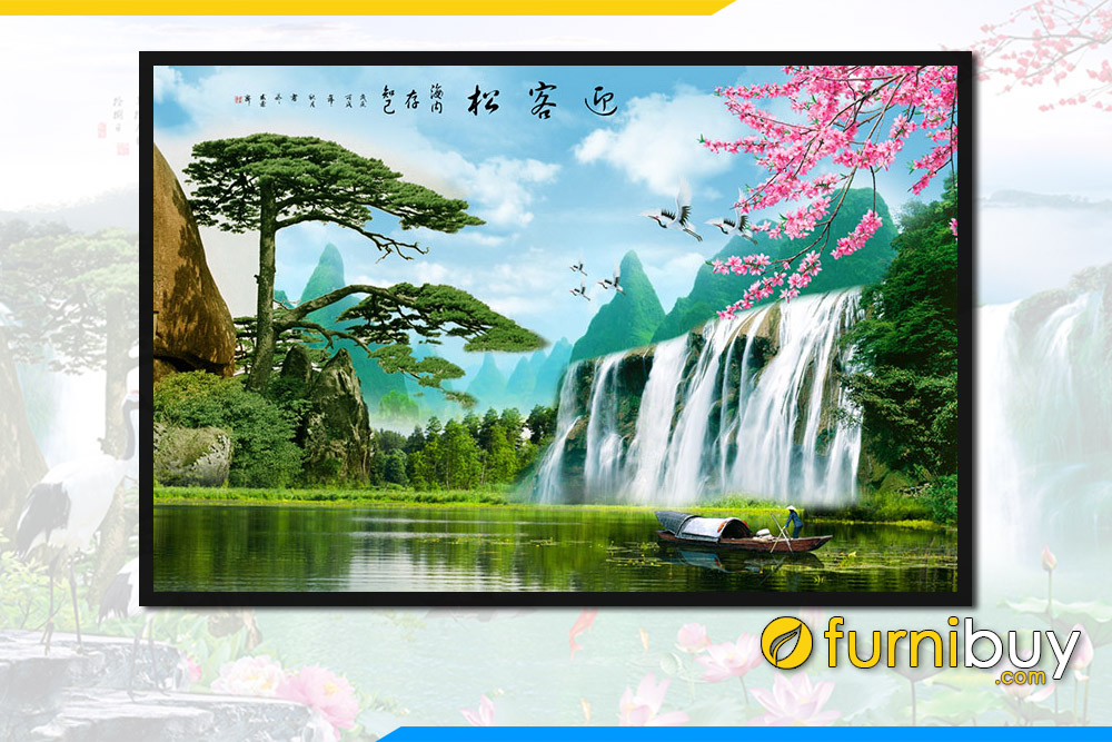 Tranh canh dao thac nuoc song nui trung quoc fb st114