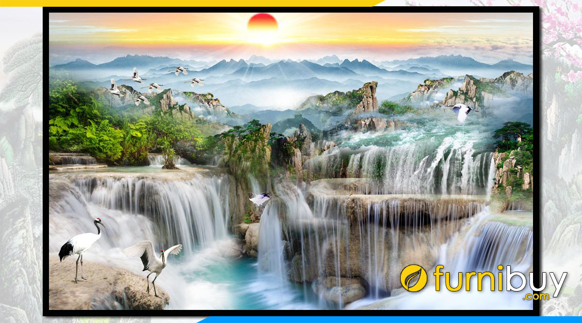 Tranh son thuy thac nuoc tung hac trung quoc FB ST142