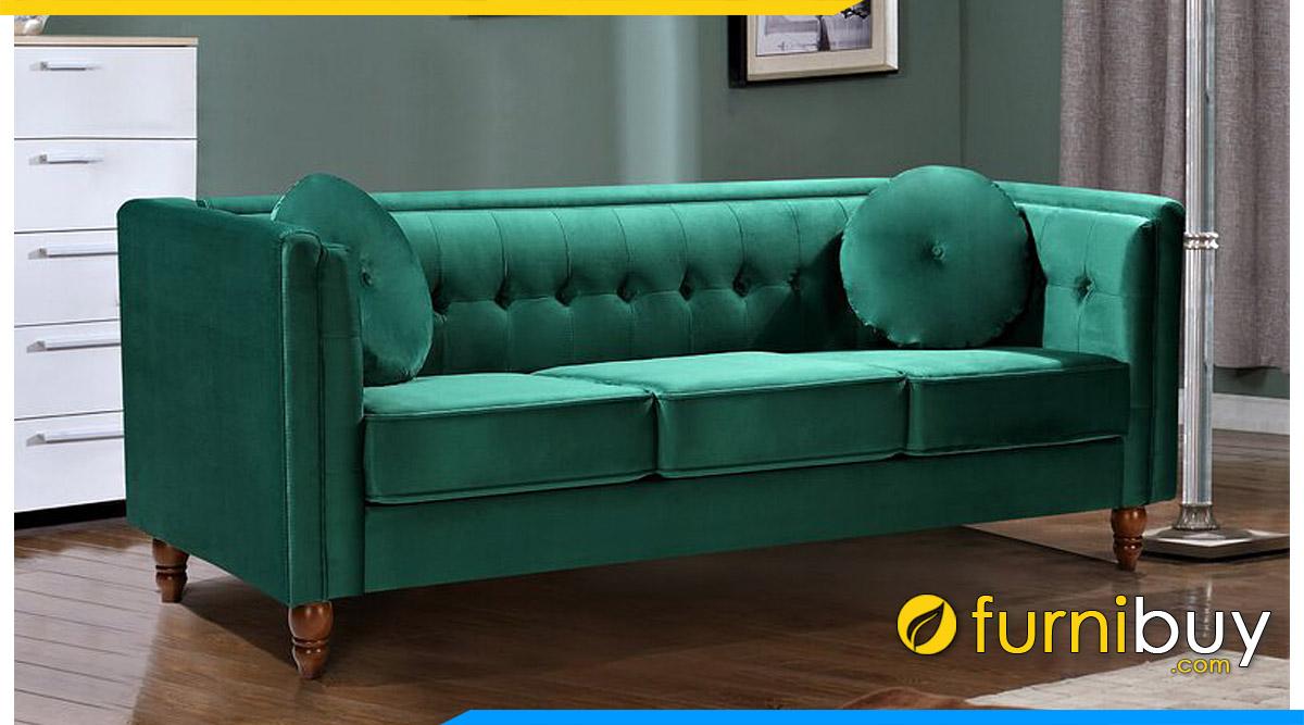 ghe sofa mau xanh la 3 cho ngoi