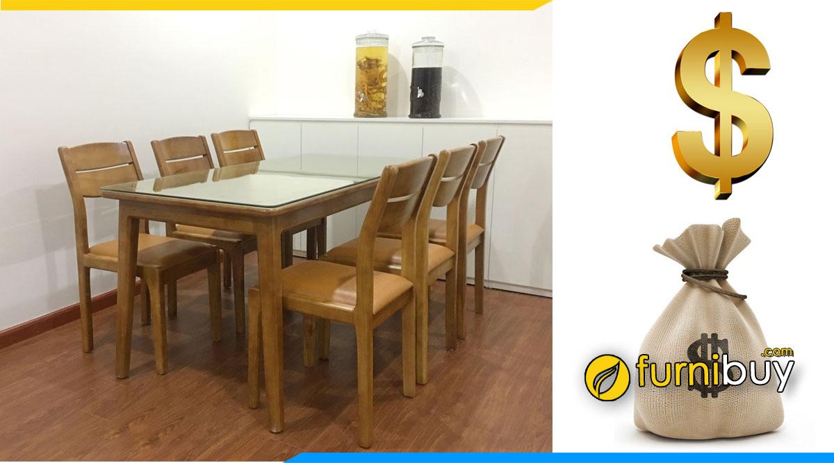 Giá bộ bàn ăn 6 ghế gỗ sồi bao nhiêu tiền? báo giá chi tiết