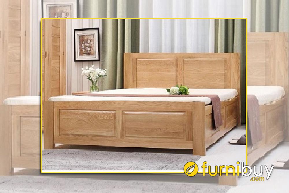 Giường gỗ sồi Mỹ có độ bền cao