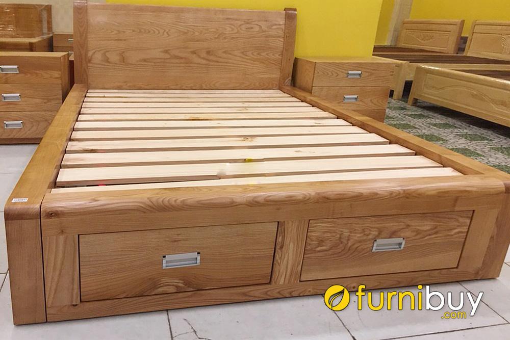 Giường gỗ sồi Mỹ đẹp