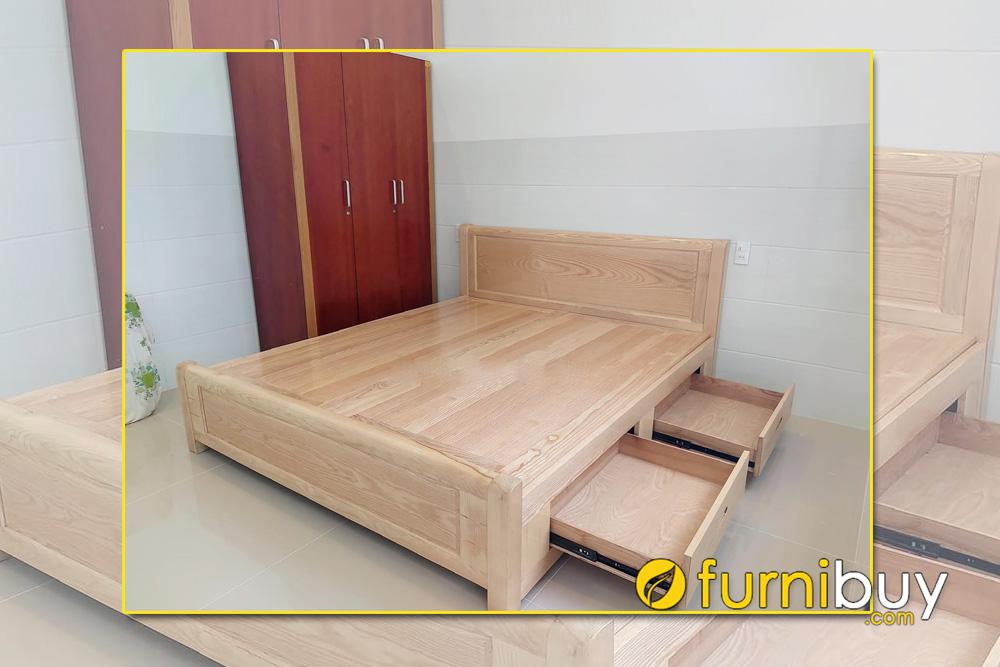 Mẫu giường gỗ sồi nga nhỏ gọn