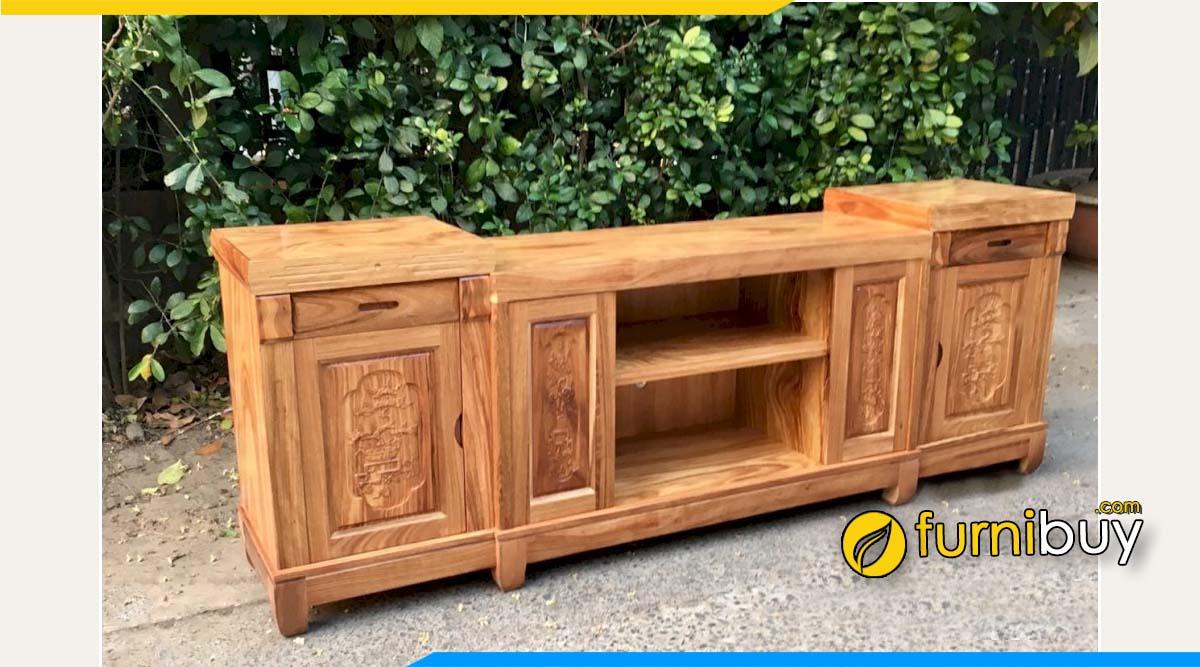 Hình ảnh Mẫu kệ tivi gỗ hương xám 2m cao cấp
