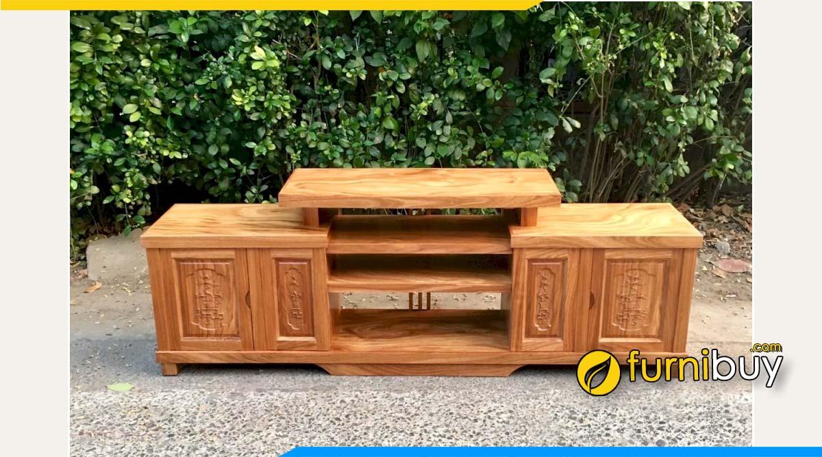 Hình ảnh kệ ti vi gỗ hương xám 2m