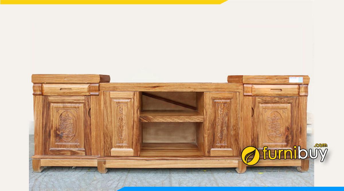 Mẫu kệ tivi gỗ hương xám Hà Nội giá rẻ