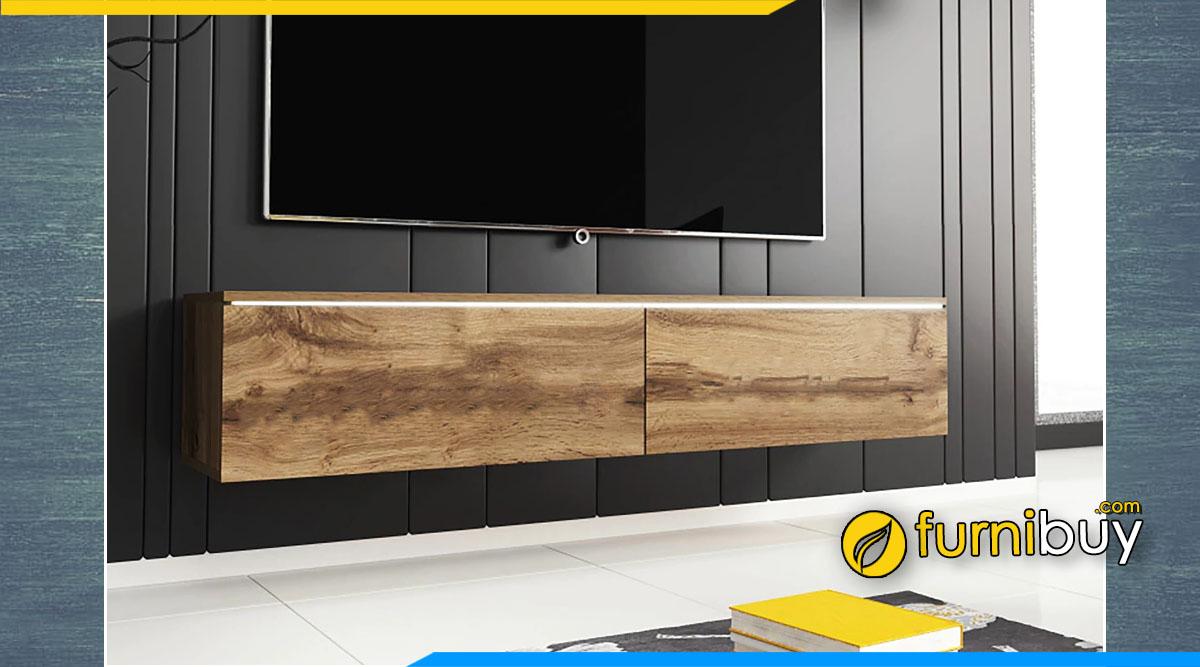 Mẫu kệ tivi treo tường bằng gỗ sồi nên mua không?