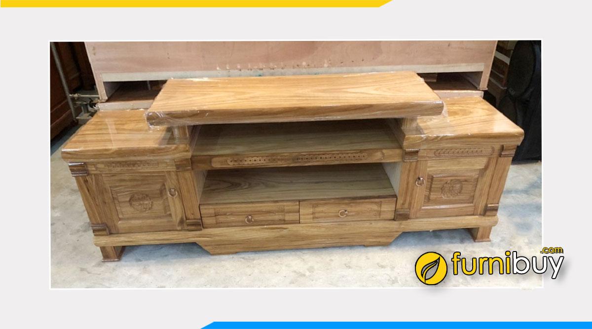 Hình ảnh mẫu kệ tivi gỗ hương xám giá rẻ