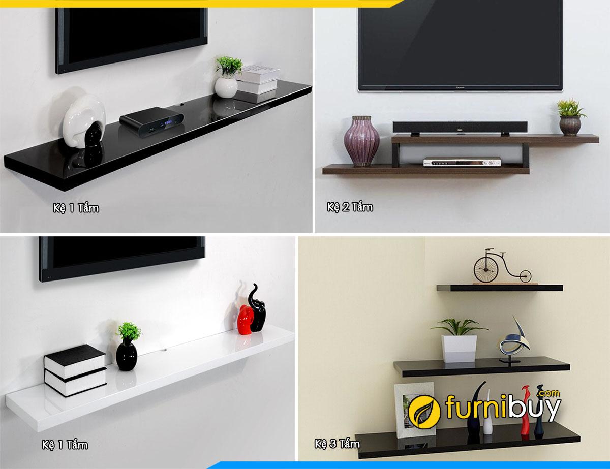 Hình ảnh mẫu kệ tivi treo tường thông minh 1 tấm, 2 tấm, 3 tấm đẹp
