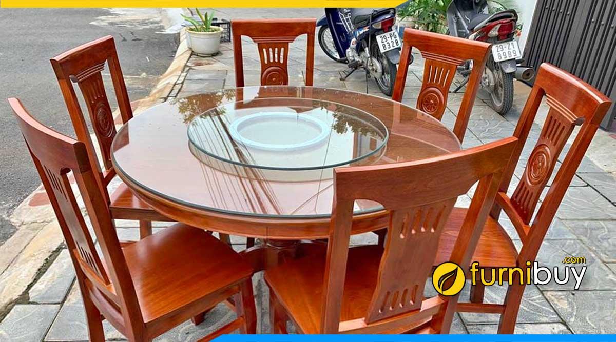 Mua bàn ăn 6 ghế gỗ xoan đào Hà Nội giá rẻ