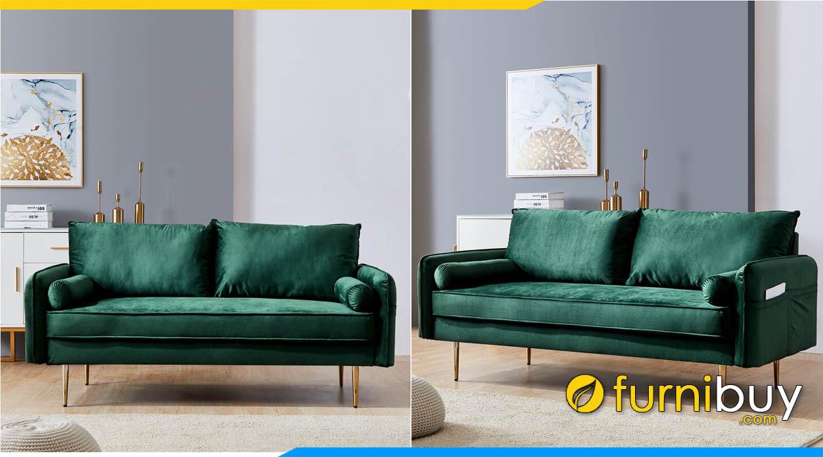 sofa bang dai mau xanh la tham ke phong khach