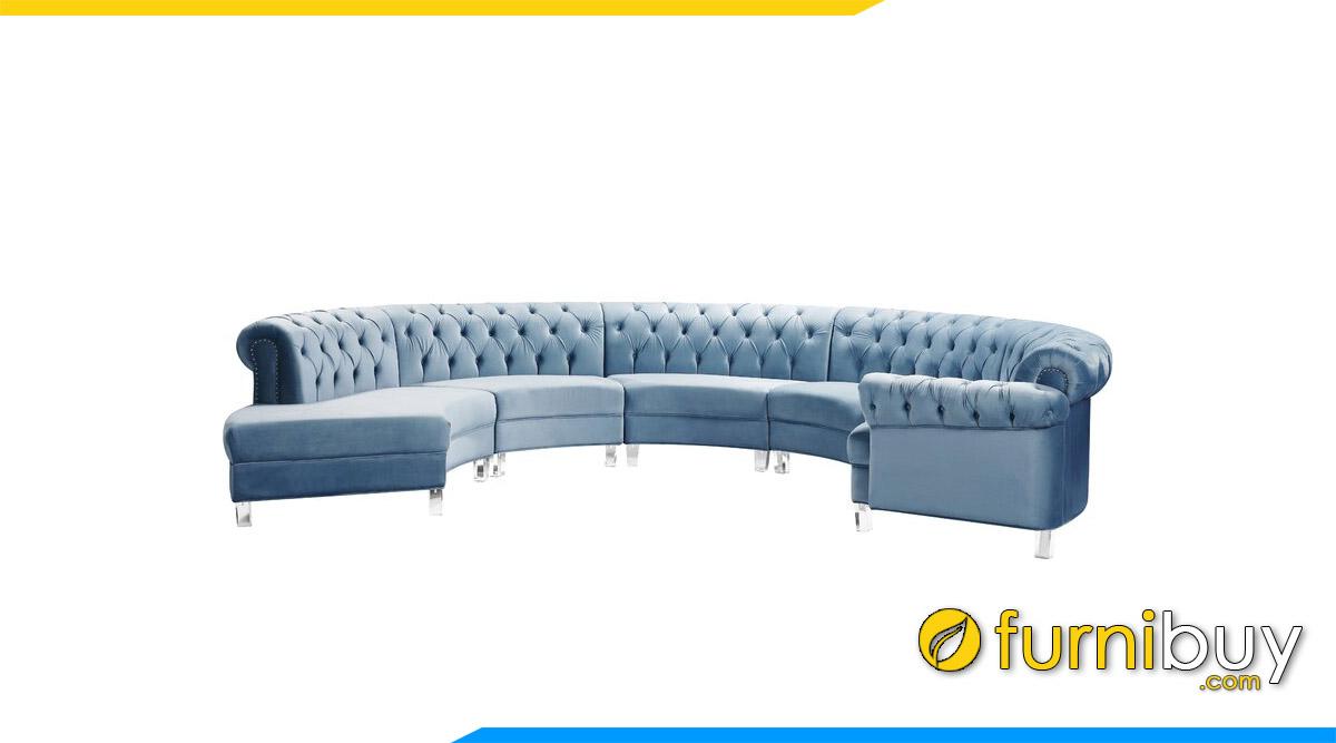 sofa goc boc ni tan co dien mau xanh da troi