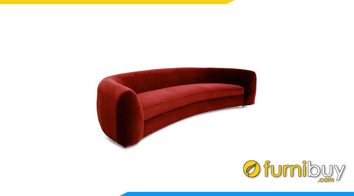 sofa goc tron boc ni mau do
