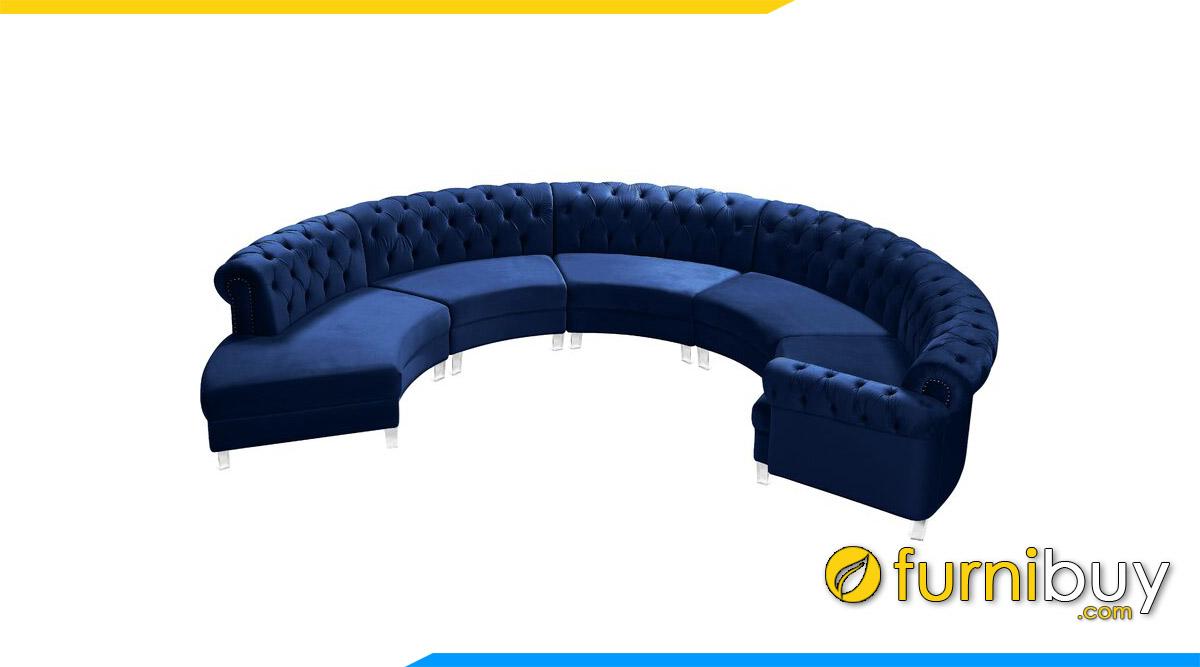 sofa goc tron mau xanh nuoc bien