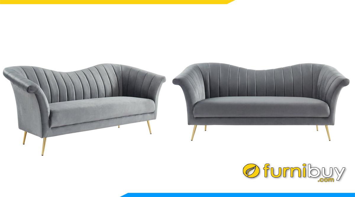 sofa luxury tua lung canh chim mau ghi