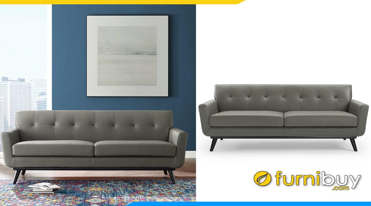 sofa phong khach dang vang 2 cho ngoi mau xam
