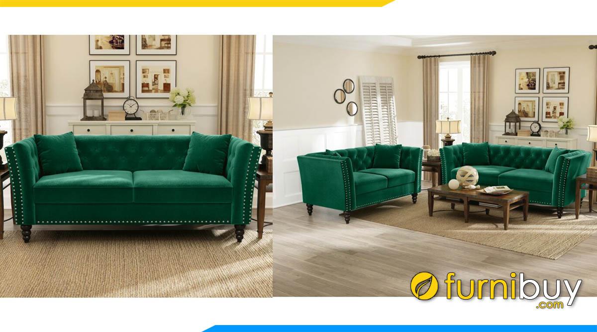 sofa phong khach hien dai dang vang 2 cho ngoi
