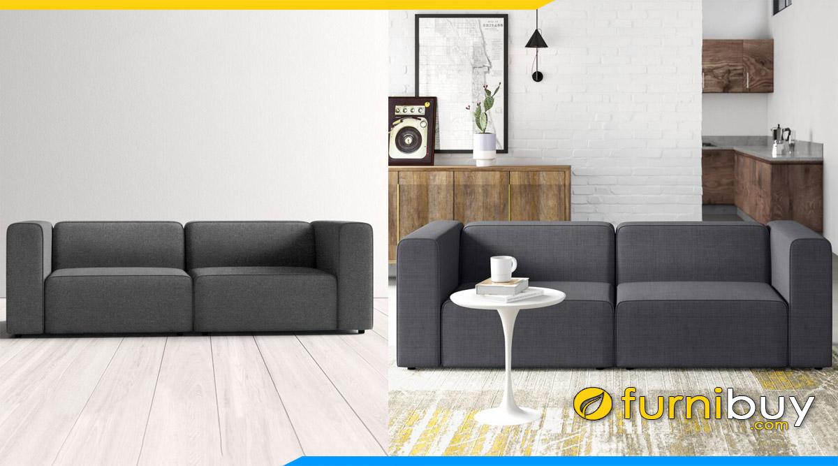 sofa vang dang khoi mau xanh xam