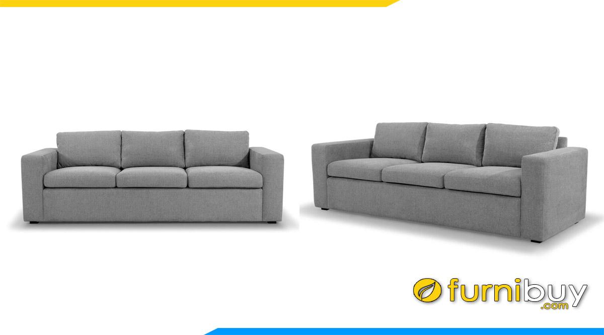 sofa vang don gian 3 cho ngoi mau ghi