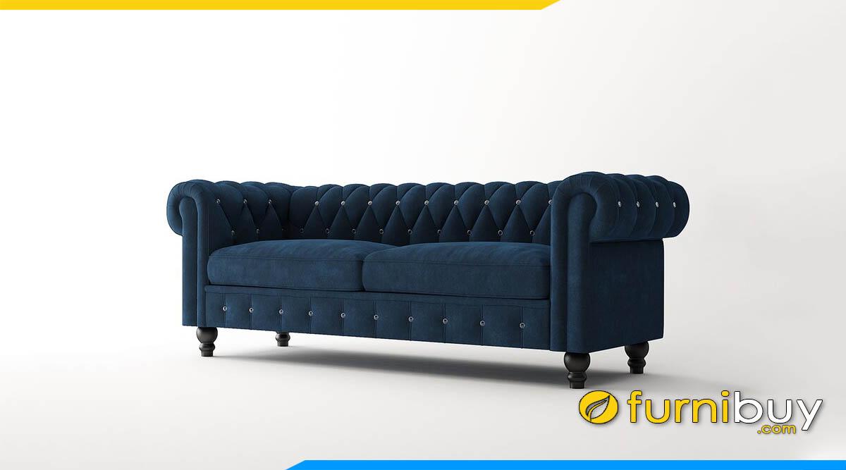 sofa vang luxury mau xanh demin cuc ki cao cap