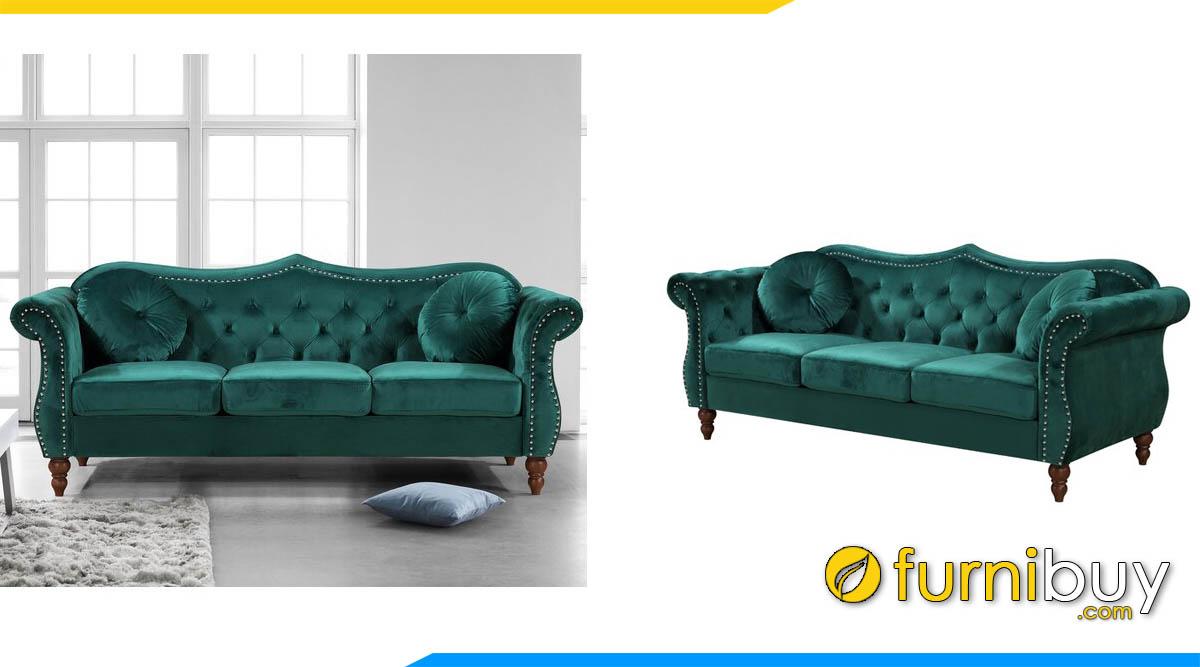 sofa vang luxury mau xanh la 3 cho ngoi