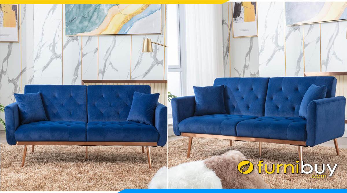 sofa vang mini mau xanh duong