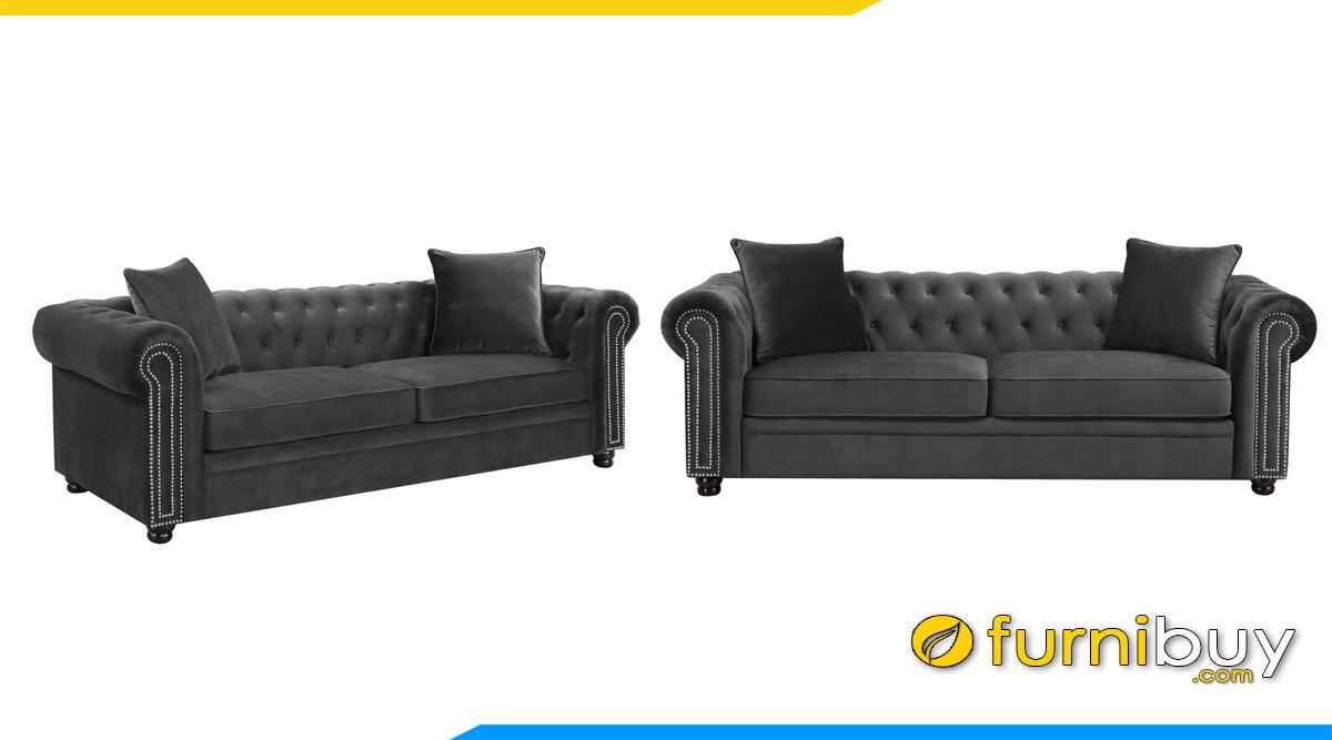 sofa vang tan co dien mau xam
