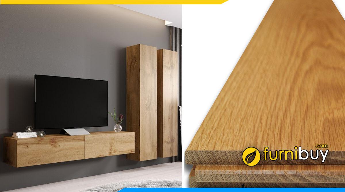 Lý do tại sao kệ tivi treo tường gỗ sồi ít thịnh hành