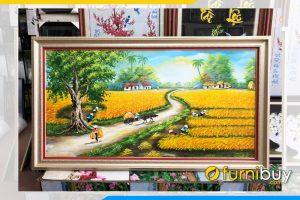 Tranh mua mang boi thu treo tuong phong khach y nghia TSD 539