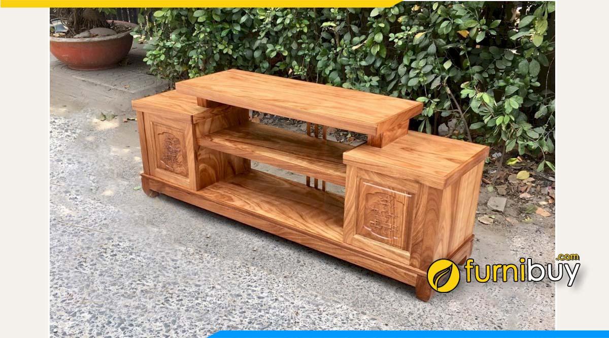 Hình ảnh tủ tivi gỗ hương xám 1m8