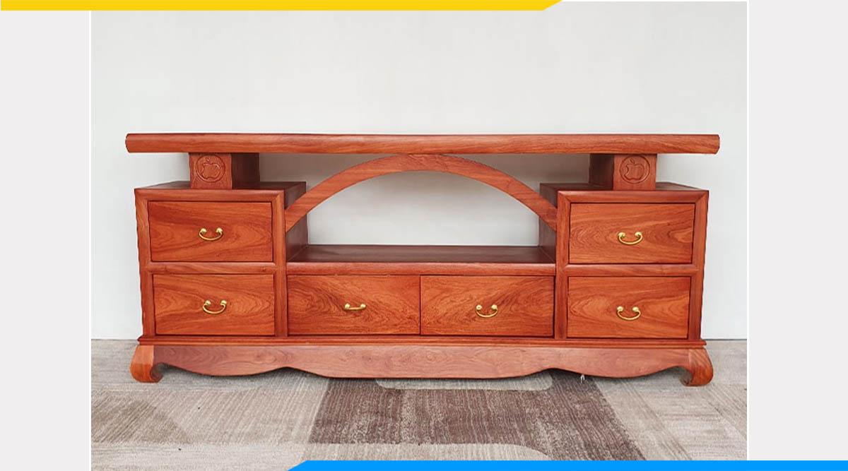 Hình ảnh Kệ tivi hiện đại gỗ hương vòm đẹp