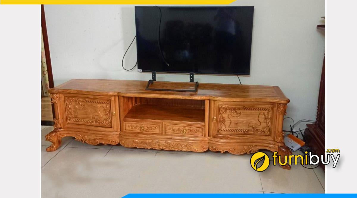 Hình ảnh Kệ tv hiện đại gỗ hương vân đẹp