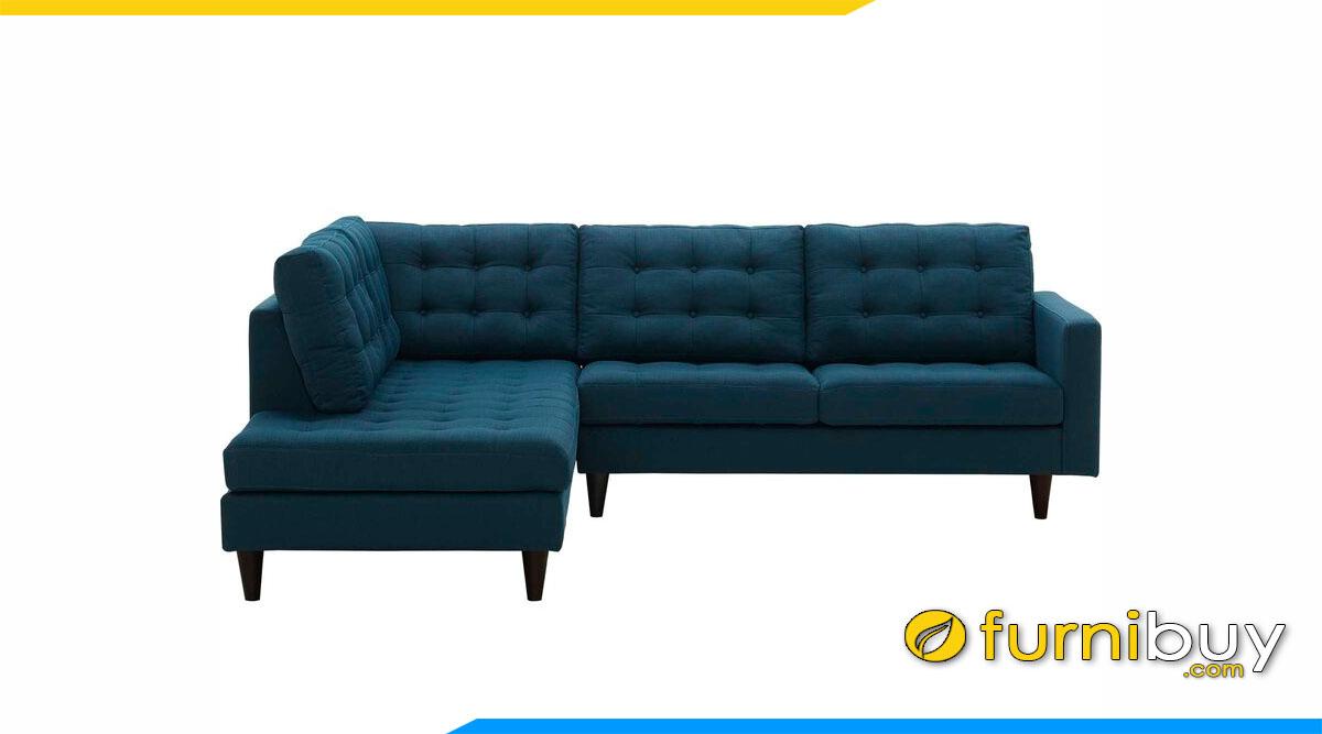 ghe sofa goc chu l 2m boc ni mau xanh