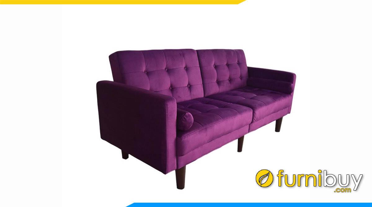 sofa vang ni 2 cho ngoi mau tim dinh cuc vuong