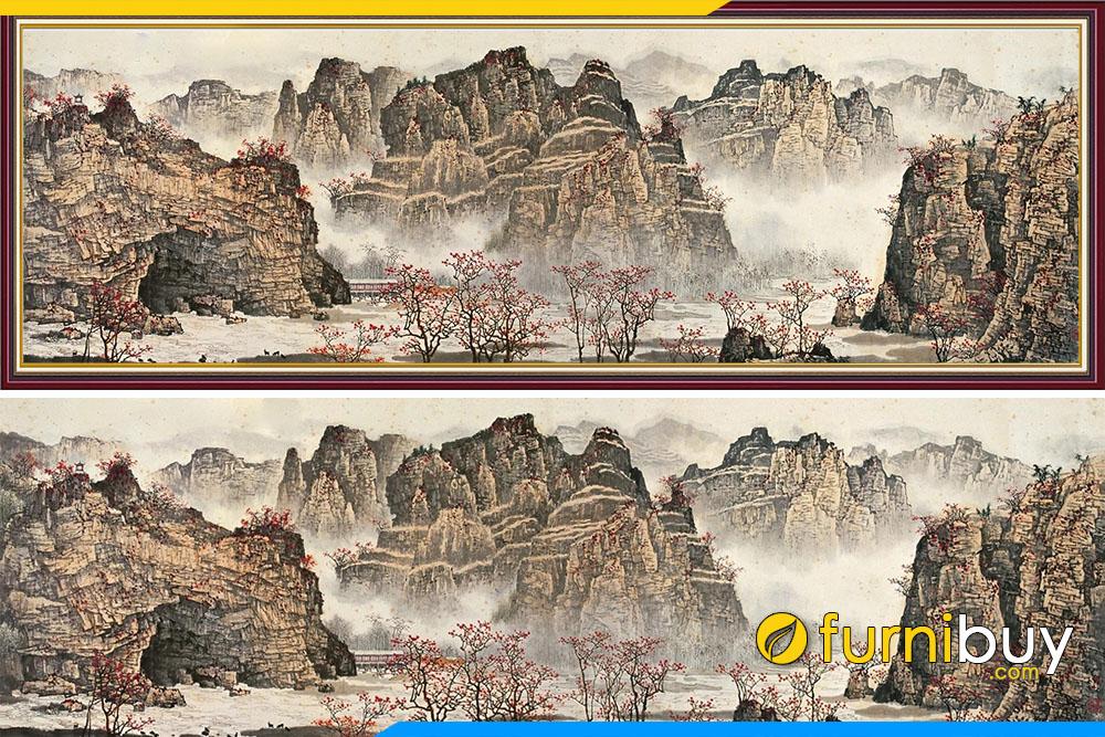 Tranh phong thuy Trung Quoc nui da nui doi amia 715