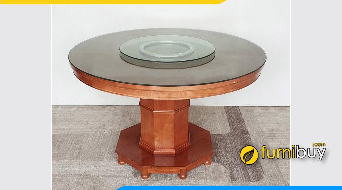 Hình ảnh bàn ăn xoay mặt kính chịu lực