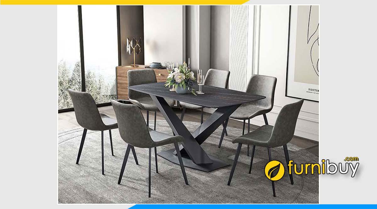Hình ảnh Bộ bàn ăn cao cấp 6 ghế nhập khẩu đẹp hiện đại