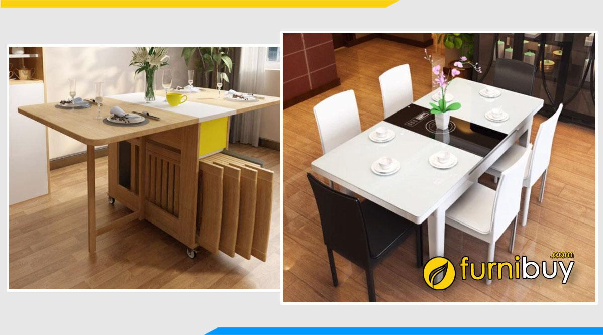 Nên chọn bàn ăn 6 ghế thông minh gấp gọn hay kéo dài