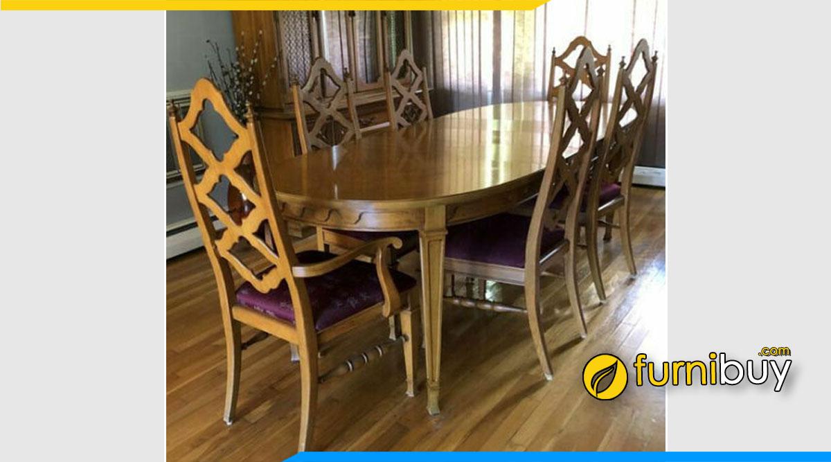 Ảnh bộ bàn ăn vintage Thomasville phong cách Pháp đẹp