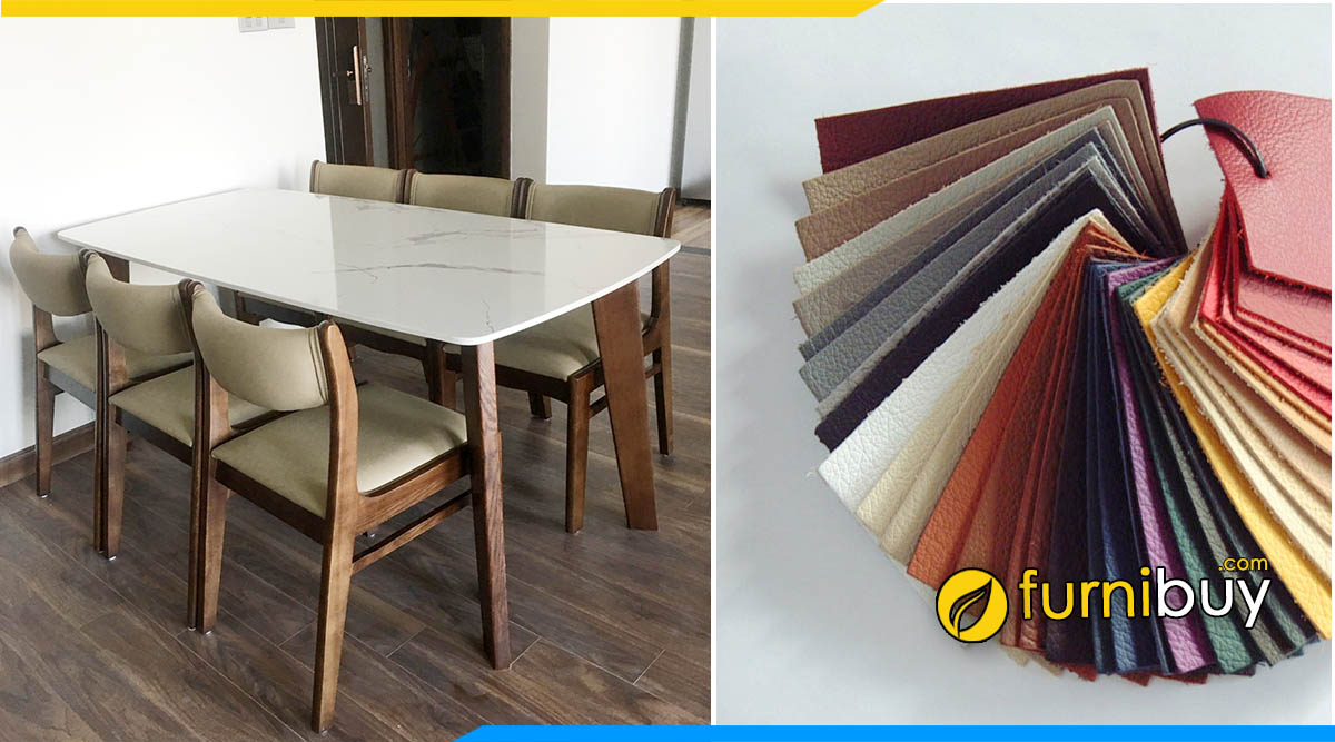 Chọn bộ bàn ăn 6 ghế bọc da đẹp cho phòng bếp