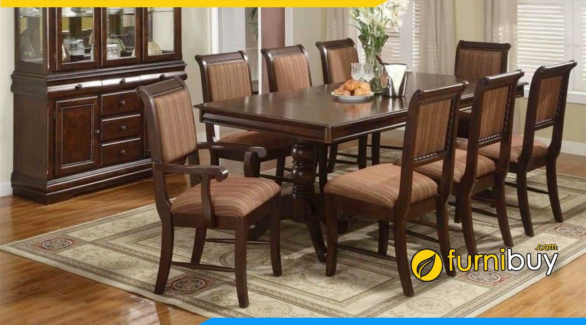 Bộ bàn ăn 8 ghế 1m8 sang trọng cho phòng bếp