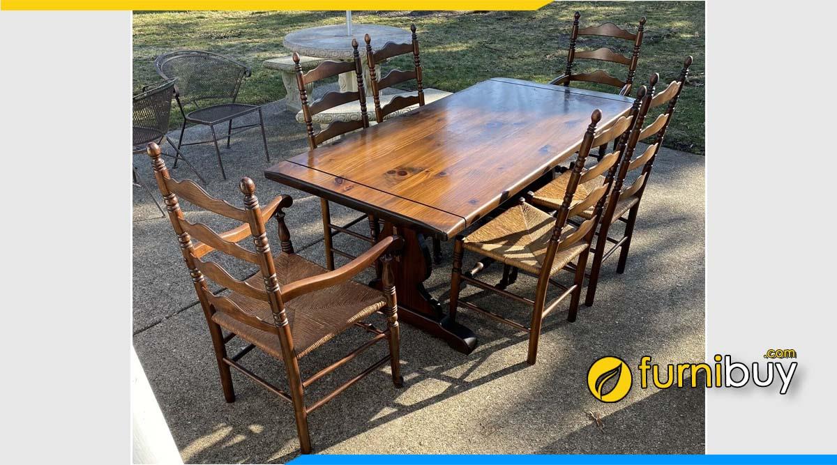 Hình ảnh bộ bàn ăn Vintage end retro ngoài trời