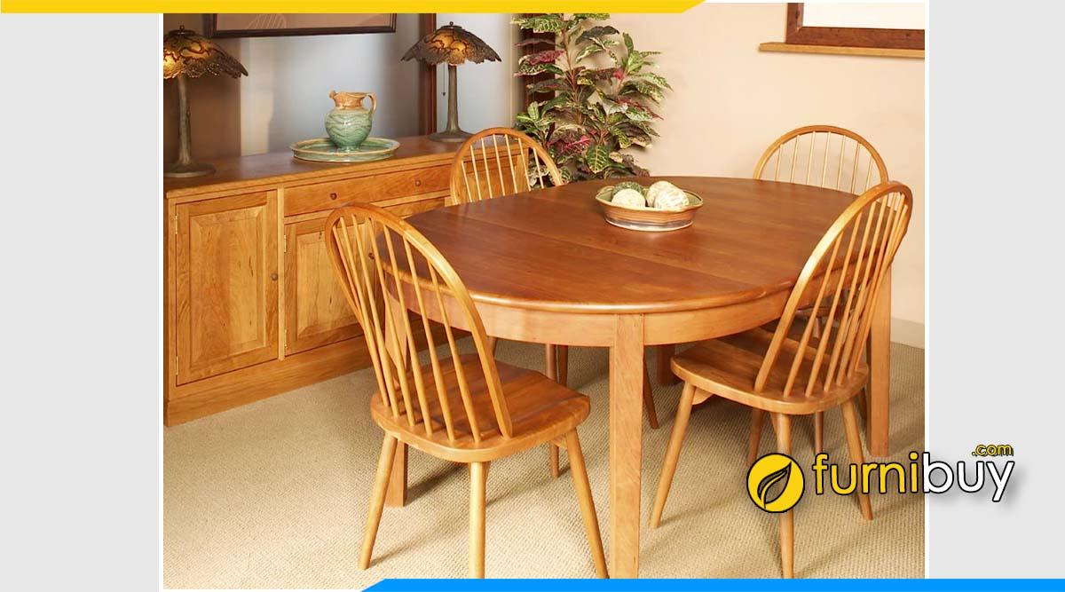 Bộ bàn ăn gỗ xoan đào 4 ghế đẹp cho phòng bếp