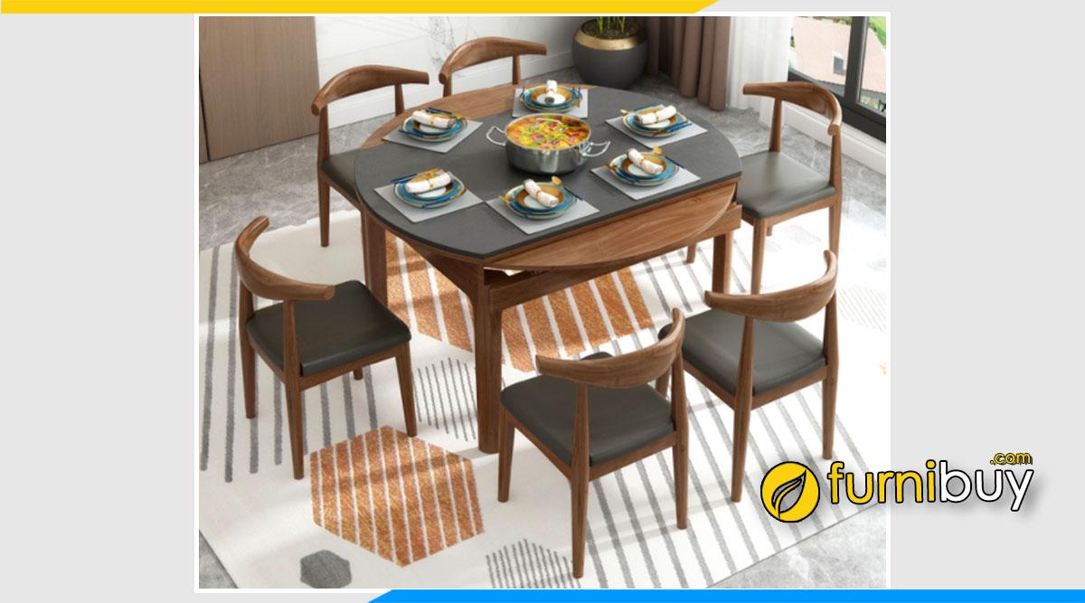 hình ảnh Bộ bàn ăn thông minh 6 ghế tròn đẹp