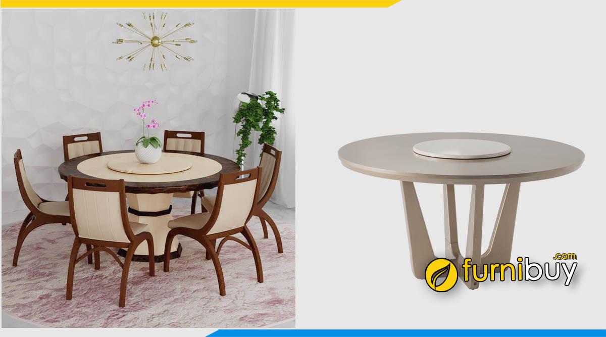 Đặc điểm bộ bàn ăn tròn 6 ghế chi tiết