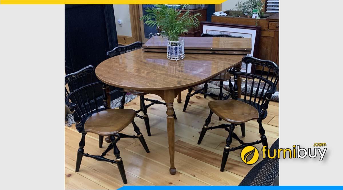 Ảnh bộ bàn ăn vintage 4 ghế đẹp
