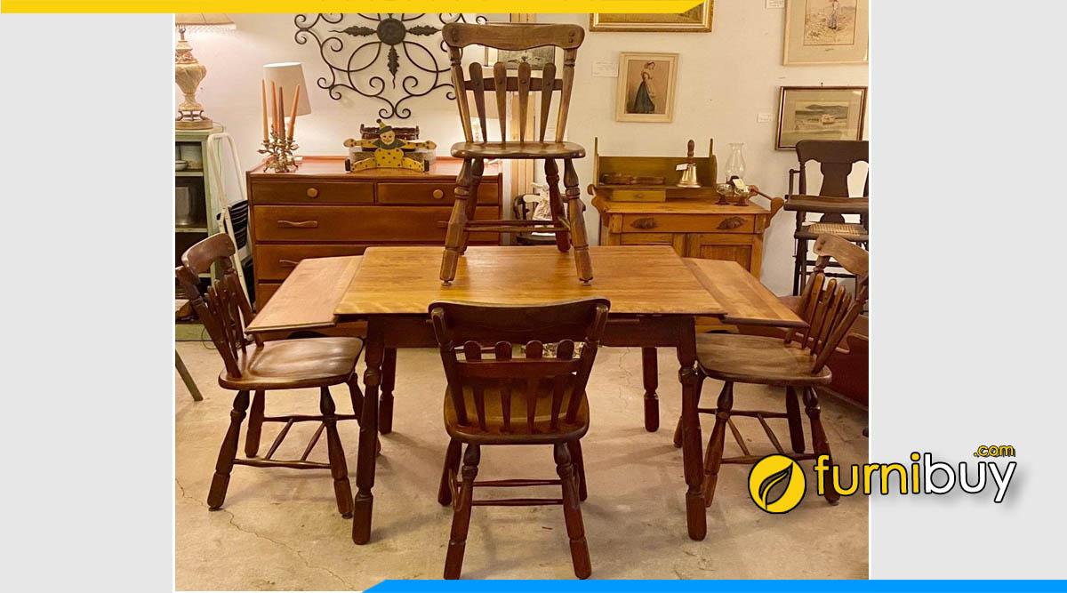 Ảnh bàn ăn vintage 6 ghế đẹp