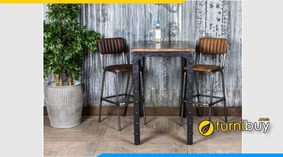 Hình ảnh bộ bàn ăn Vintage quán cafe nhỏ gọn